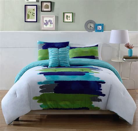 turquoise blue lime green teen bedding king comforter