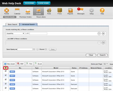 solarwinds web help desk api how to export all asset data to an excel spreadsheet