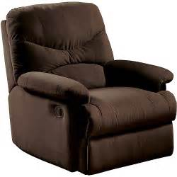 oakwood microfiber recliner multiple colors walmart com