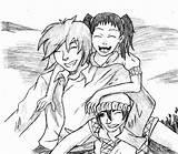 Anime Drawing Sketch Deviantart Coloring Template Imgarcade Credit Larger sketch template