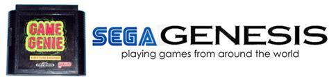 Playing Sega Genesismegadrive Imports With Game Genie