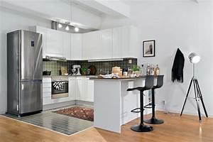 amenagement petit espace idees deco petit appartement With amenagement petit espace cuisine