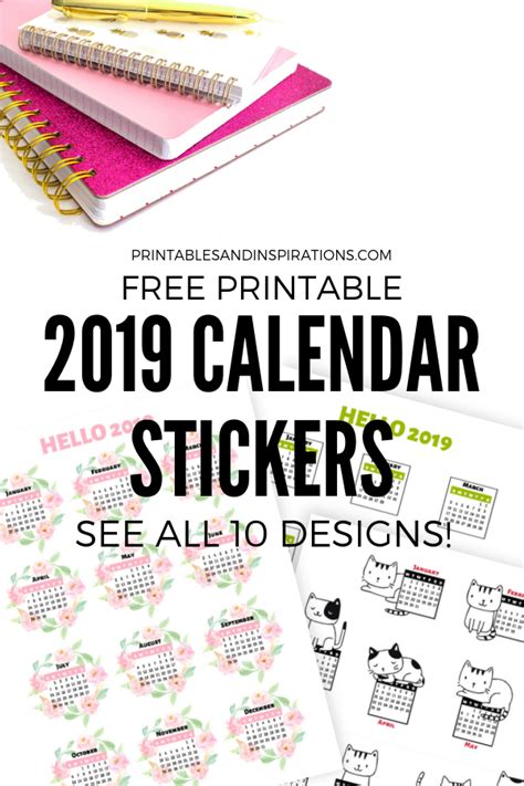 calendar stickers bullet journal planner printables