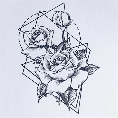 ideas  geometric flower tattoos  pinterest
