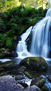Rocks, Forest, Nature, Waterfall, 720x1280, Wallpaper