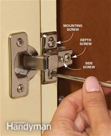 fixing kitchen cabinet hinges home repair how to fix kitchen cabinets the family handyman 7224