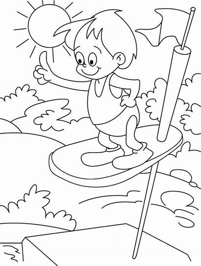 Coloring Summer Pages Swimming Pool Park Water