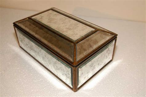 deco mirrored jewellery box mirror glass