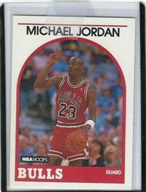 michael jordan  nba hoops  valuable player card
