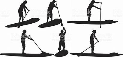 Stand Clipart Paddle Surf Clipground Board Surfer