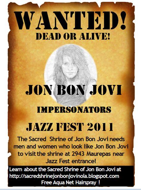 Sacred Shrine Jon Bon Jovi New Orleans Wanted Dead