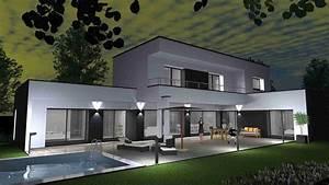 Maison Moderne Toit Plat : mignon maison moderne toit plat contemporaine cabinet de ~ Nature-et-papiers.com Idées de Décoration