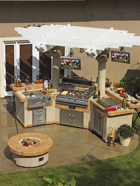 backyard kitchen design ideas optimizing an outdoor kitchen layout hgtv