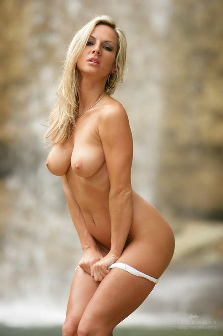 Erotic Outdoor Nudes With A Sexy Blonde That Poses By The