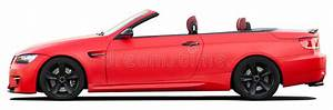 Red BMW Convertible Car On A Transparent Background Stock ...
