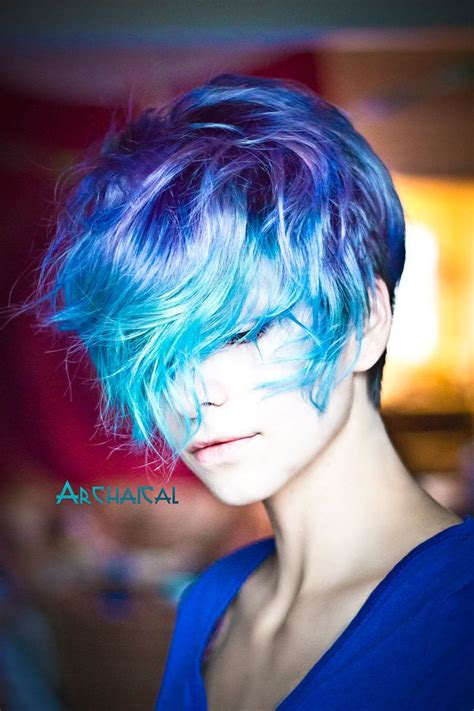 Pin By Laura Leonard On Short And Sassy Hair Color Blue