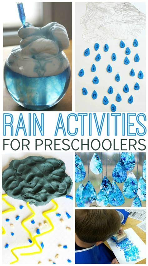 rain activities  preschoolers pre  pages