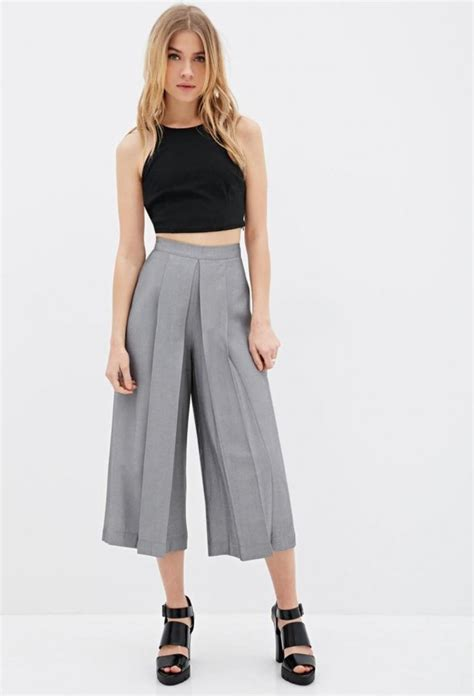 denim trouser culottes and shorts in fashion