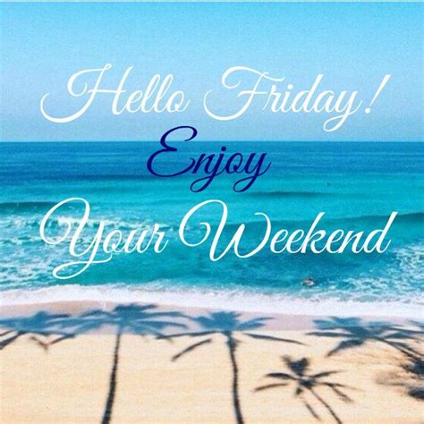 Beach Happy Friday Quotes Weekend