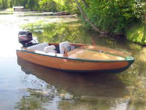 Small Wooden Speed Boats