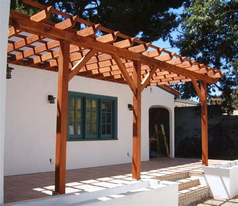 dazzling wooden backyard pergola roof design covered patio