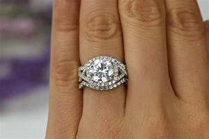 325 ctw 3 band twisted halo wedding set engagement ring With twisted engagement ring with wedding band