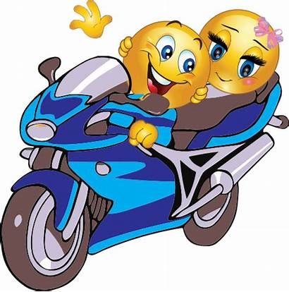 Emoticon Smiley Couple Motorcycle Clipart I2clipart Riding