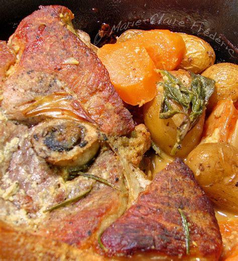 rouelle de porc r 244 tie en robe de moutarde pour d 233 but de printemps frisquet du miel et du sel