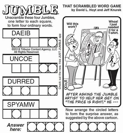 Jumble March Puzzle Carey Drew Solve Tuesday