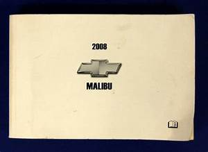 2008 Chevy Chevrolet Malibu Owners Manual Guide Book