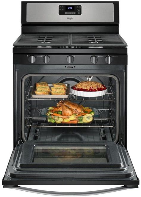 gas whirlpool convection fan freestanding cu stainless ft range steel cooking