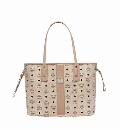 Mcm Shopper Reversible Tote Beige Bags Visetos