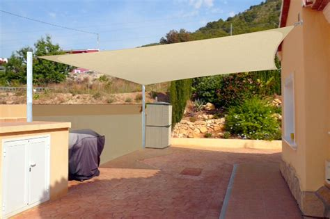 shade sail installation with 3d design
