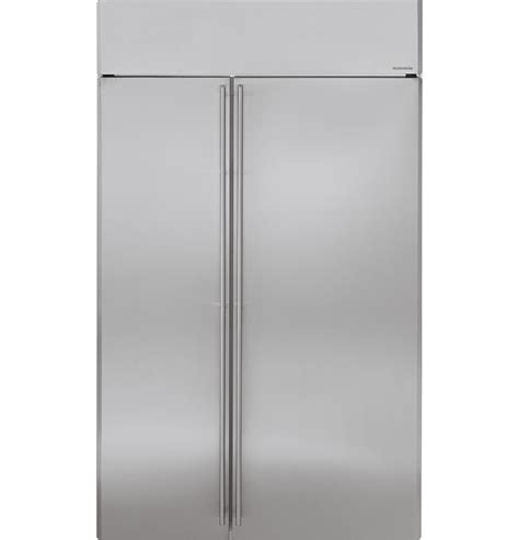 ge monogram  built  side  side refrigerator zissnxss ge appliances