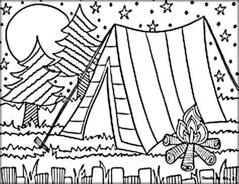 camping colouring pages  kids campingoutdoor camping coloring pages summer coloring