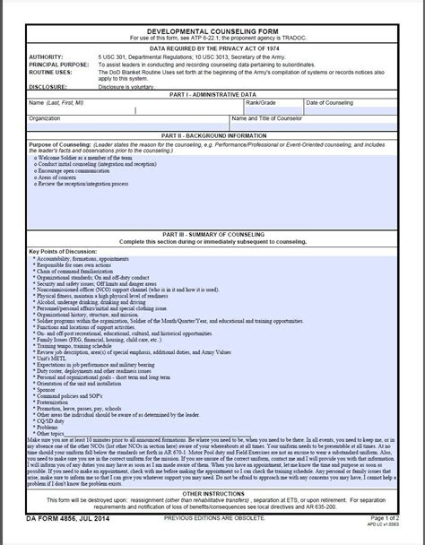 Initial Counseling Template by Reception And Integration Counseling