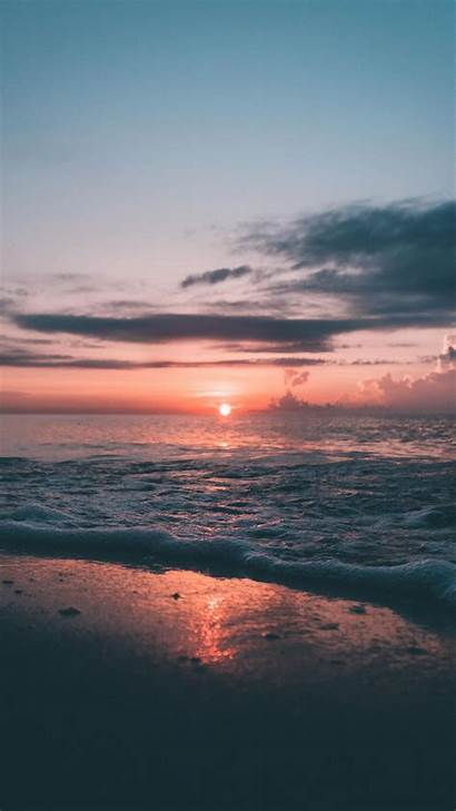 Sunset Wallpapers Aesthetic Soft Wave Nature Sea