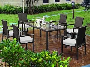 Table De Jardin Tressé : salon de jardin en r sine tress e noire 1 table avec ~ Dailycaller-alerts.com Idées de Décoration