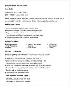 Nanny Qualifications Resume by Nanny Resume 8 Free Sle Exle Format Free Premium Templates