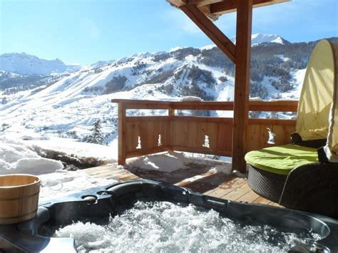 chambre chalet de luxe chalet view mountain and ski slopes swimming pool 876401