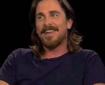 Adorable Christian Bale Laughing