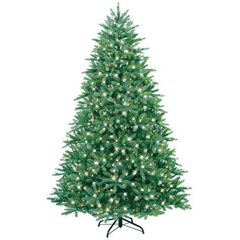 7 5 ft christmas tree with 1000 lights ge 7 5 ft just cut fraser fir ez light artificial
