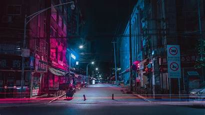 4k Night Street Buildings 2160 Wallpapers