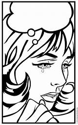 Pop Crying Lady Coloring Drawing Comic Artprojectsforkids Para Colorear Painting Projects Arte Pdf Dibujos Getdrawings Combined Come sketch template