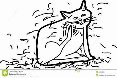 Shedding Clipart Outline Cat Messy Dog Cartoon