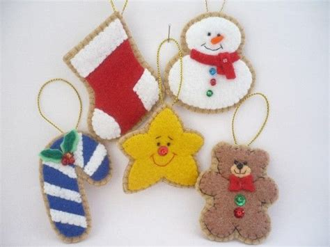 Magicforest Tree Sewing Set felt ornaments set of 5 by ynelcas on etsy
