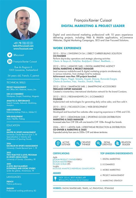 Digital Media Project Manager Resume by 17 Best Ideas About Project Manager Resume On