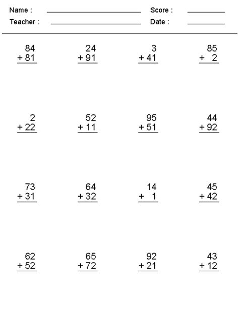 simple addition worksheet grade simple math problems worksheets addition worksheets