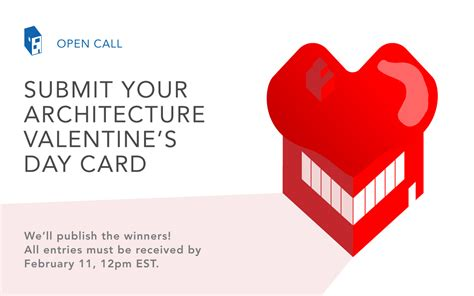 Call For Submissions Architecturethemed Valentine's Day Card 2018 Archdaily