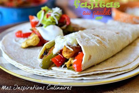 recette de cuisine mexicaine recette de fajitas au poulet et poivrons le cuisine de samar